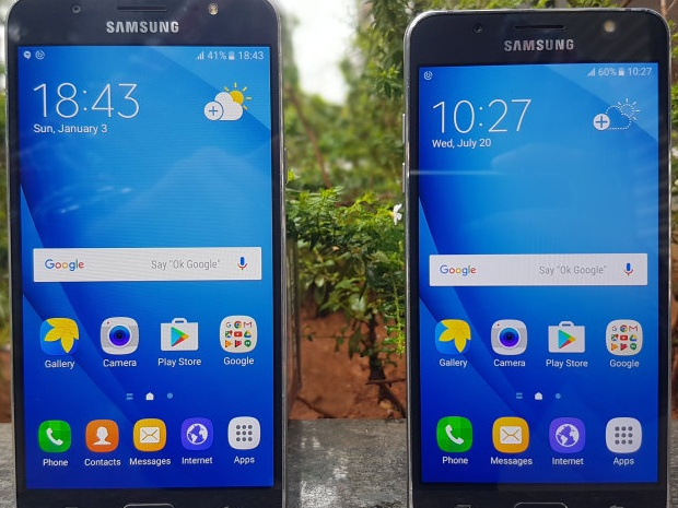 Samsung Galaxy J7 with the similar looking J5