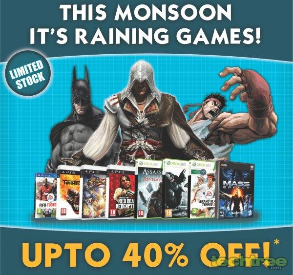 Game4u.com Launches Monsoon Sale, Offers Up To 40% Off On Games And Peripherals