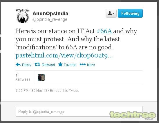 Anonymous Takes Down Kapil Sibal's Website