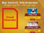 SanDisk Announces Diwali Dhamaka Contest With 35 Digicams Up For Grabs