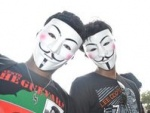 Anonymous Holds Street Protest Against Web Censorship In Mumbai