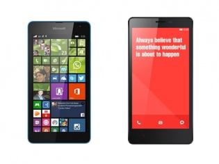 Unusual Rivalry: Microsoft Lumia 535 Vs Xiaomi Redmi Note